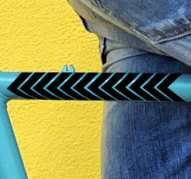 Ukrasna naljepnica za okvir bicikla. Dodajte lijep izgled okvira bicikla ukrašavajući ovom raznom strelicom s uzorkom.