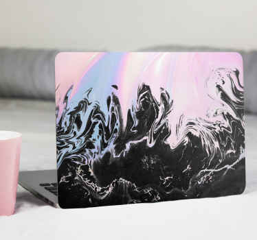 Vibrant pastel pink marble laptop skins - Lovely design illustrating an abstract painting in colours. Easy to apply, self adhesive and original .