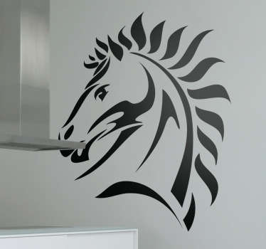 A simple but elegant design illustration a horse. If you love horses or need an original decal then this horse wall art sticker is perfect for you!