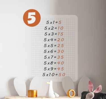 Let your kid learn the multiplication table with our decorative multiplication table education decal. It is easy to apply and durable.