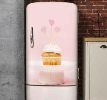 Vinilo para refrigerador de cupcake: es fácil de colocar y se puede personalizar a cualquier tamaño que desee ¡Descuentos disponibles!