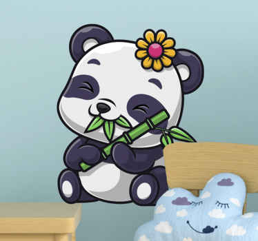 """Fancy, amazing, colorful """"Sweet panda"""" Kids Room Wall Sticker. What are you waiting for? Get it right now because it's just one click away"""