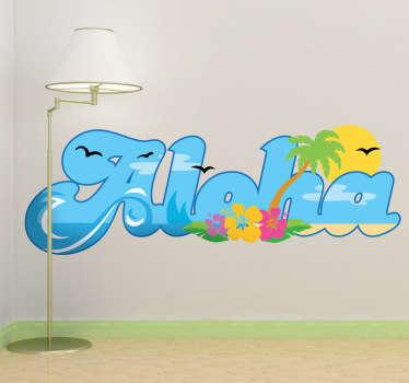 Sticker decorativo aloha