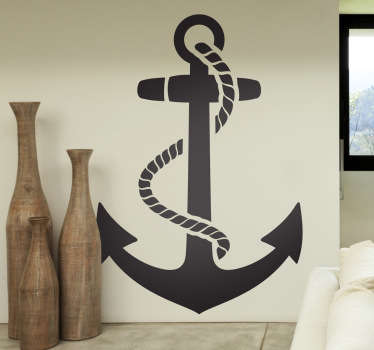 наклейка на якоре на лодке