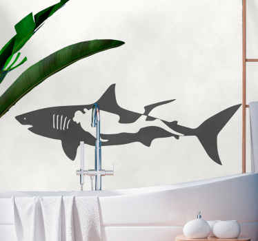 Silhouette marine fish decal for your space beautification. This can be used to decorate a living room, bedroom, kitchen, bathroom, etc.