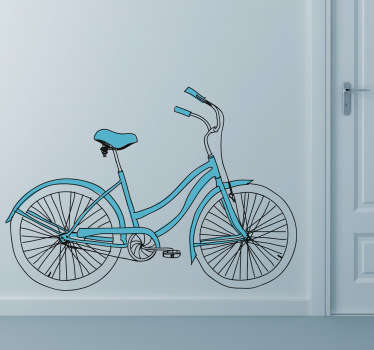 A bicycle wall sticker for those cyclists out there! This vintage decal is great for those that love this sport and want to decorate their home.