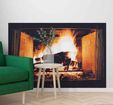 What could be a better gift to give to yourself or something you know than this cool fireplace wallsticker design? Home delivery by ordering it now!