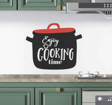 if you love cooking this home text wall sticker is the perfect decorative element for your kitchen.  It is made of high-quality vinyl