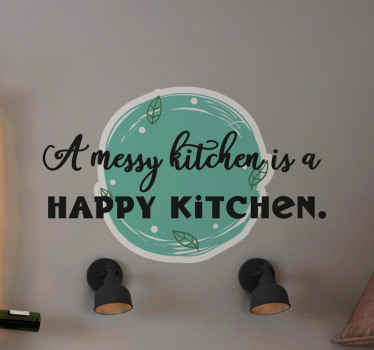 Decorate your kitchen with this amazing design. This amazing text vinyl sticker will look very nice in your kitchen! Order yours today!