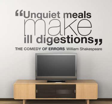 Vinil decorativo Shakespear Comédia dos Erros