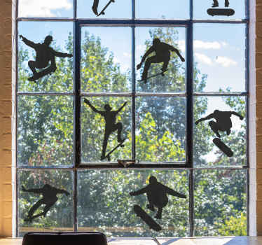 This perfect skateboard window sticker design is the perfect purchase that we are sure you will absolutely love! Home delivery today!