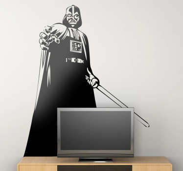 Vinilo decorativo Darth Vader poder