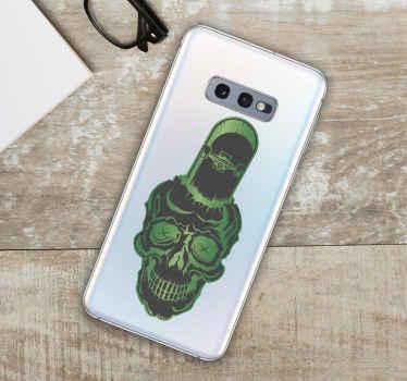 Skalle med skate iphone-klistermärke - mycket lätt att hålla fast och kan tas bort utan att lämna rester efter borttagning. Gjord av kvalitet och hållbar.