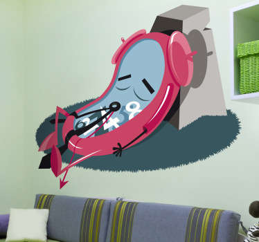 A fantastic wall decal for those who love creative and original designs! If you like surrealist artwork then you will enjoy this clock sticker.