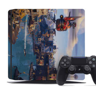 this amazing playstation vinyl skin depicts a fortnite landscape that would look amazing on your playstation! there will be no problem at removing it.