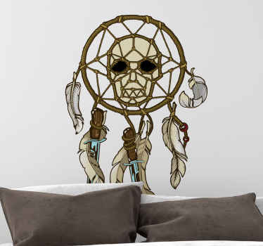 Pirate dreamcatcher object decal for lovers of pirates'. Suitable for living room, any common space and for interior areas decoration.
