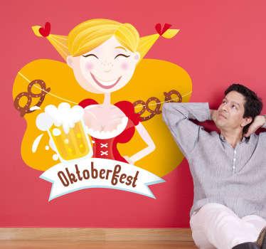 Oktoberfest Mädel Aufkleber