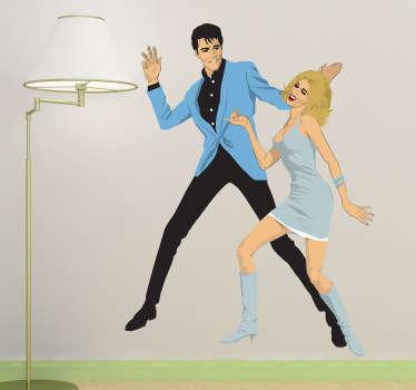 Naklejka Elvis i Nancy Sinatra