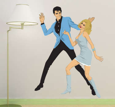 Vinilo decorativo Elvis Nancy Sinatra
