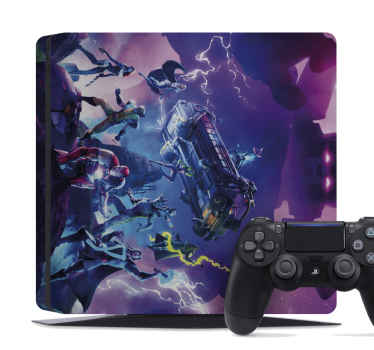 what a beautiful design has our amazing playstation decal! It depict a fortnite galactus event.  It is really easy to apply following our instructions.