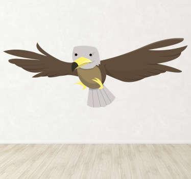 Adler Comic Aufkleber