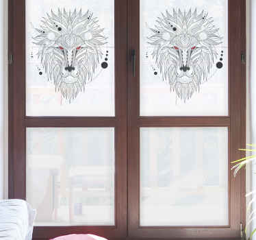 Fierce geometrical lion design window sticker. Have a very attractive and excellent vinyl window sticker! Get it now! Home delivery!