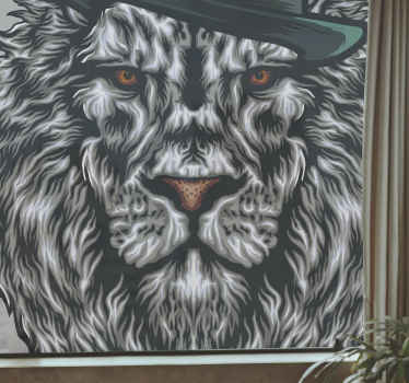 Amazing and modern head lion design vinyl window sticker, perfect for giving your house a new look, get yours now! Home delivery!