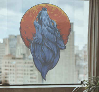 An artist wolf animal decal for window, door, wall and other surface decoration. This would add a lovey impression on any space.
