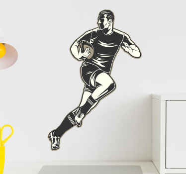 This amazing rugby window sticker is a must for your teenager's room! Don't wait any longer and order your new sports sticker today!