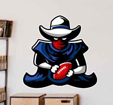 Få denna coola vägg vinyl klistermärke nu för dina barn! Tveka inte längre och beställ din nya rugby-klistermärke nu! Du kommer inte ångra beslutet!