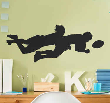 Do your kids love rugby? Then this is the rugby wall sticker you were searching for! Order your new home sticker today! You won't regret it!