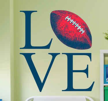 Incrível autocolante fotomural vinílico de parede de rugby. Eles não danificam a parede. é perfeito para presentes e vinil decorativo de desportos! Compre agora online! Fácil de aplicar! Entrega ao domicílio!