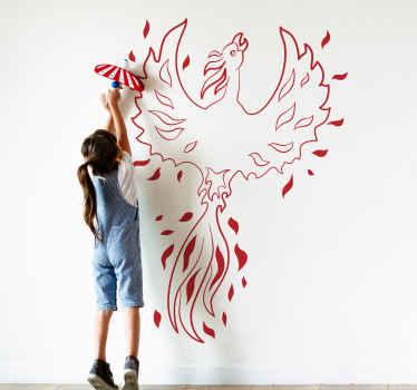 """Naljepnica zida """"harry potter phoenix"""" koja se može prilagoditi u bilo kojoj drugoj boji. Može se ukrašavati na bilo kojoj ravnoj površini."""