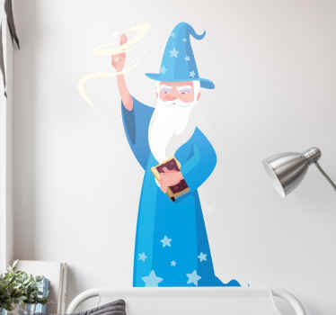 Decorative Harry potter movie sticker for fans and lovers of this Hollywood movie . The design illustrates the old harry porter wizard making magic.