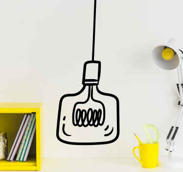 Light bulb hanging abstract wall sticker. You can decorate this on any flat surface and the colour is customizable to meet your need.
