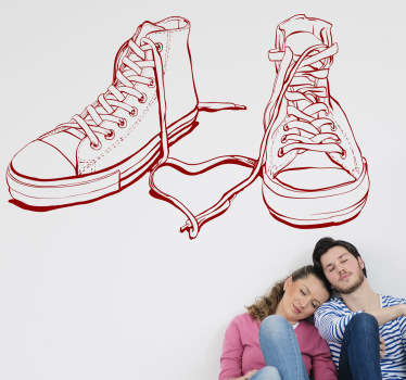 Sticker schoenen basketbal