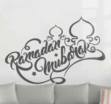Wish everybody a very Happy Ramadan Mubarak with this amazing Arabic wall sticker.