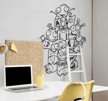 Sticker enfant collection monstres dessin
