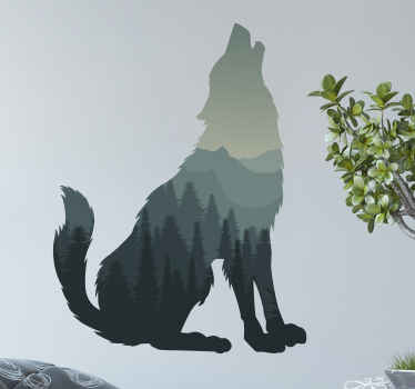 Perhaps you want to create a lonely wolf in the forest illustration theme on your space, wild animal sticker this would just be perfect.