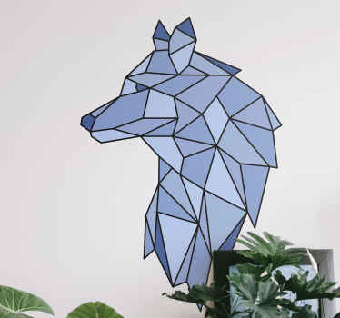 An amazing artistic origami wolf animal decal to give your space a lovely creative art decoration effect. It can be purchased in any needed size.
