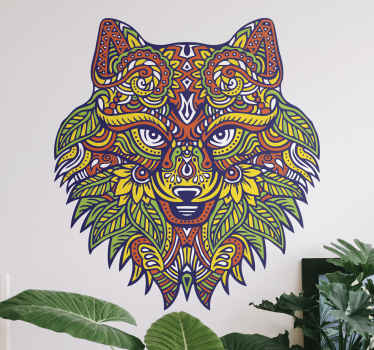Tribal artistic wild animal art decal design illustrated in mandala with patterns. Made of high quality vinyl, easy to apply on all flat surface.