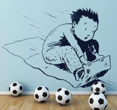 Wandtattoo Kinderzimmer fliegender Teppich