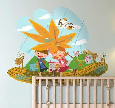 Autumn Story Scene Sticker