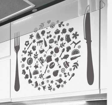 Kitchen Plate Wall Sticker