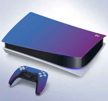 Blue and purple PS5 sticker with which you can customize your PlayStation while covering it and keeping it protected from scratches or any damage.