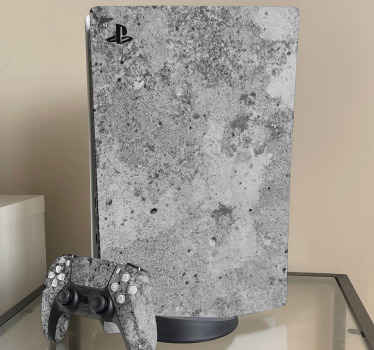 Abstract concrete background PlayStation decal for PS gaming device customization. It is easy to apply and self adhesive.