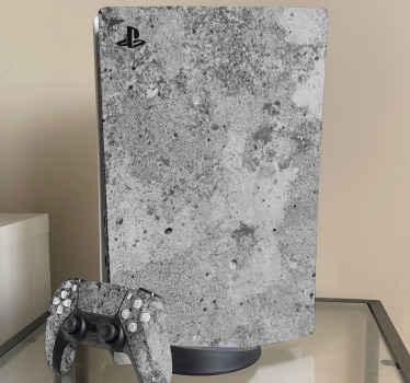 Vinilo PS5 de textura cemento abstracto para la personalización de tu consola PlayStation ¡Elige tu modelo! ¡Envío exprés!