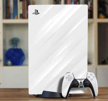 Vinilo PS5 con textura plateada para personalizar un dispositivo de juego. Ideal para cualquier PS5 y sus mandos ¡Envío exprés!