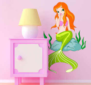 An ideal mermaid decal for children. Brilliant design from our collection of mermaid wall stickers to give their room a unique appearance.