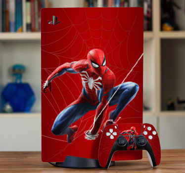 Spiderman PS5 vinyl sticker for lovers of super hero characters. Really easy to apply, self adhesive and remove without any problem.